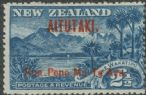 "Aitutaki SG3 2½d. Lake Wakatipu overprinted ""Aitutaki"" and value in red (OAES/8)"